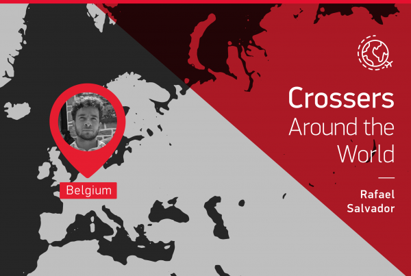 "The testimony of this ""Crossers around the world"" is given by Rafael Salvador from Belgium"