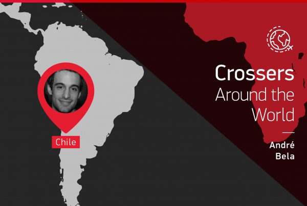 "The testimony of this ""Crossers around the world"" is given by André Bela from Chile"