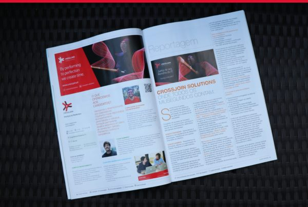 "Image of an article about Crossjoin in ""Directório Empresas"" magazine"