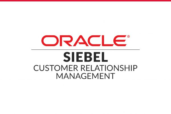 Image with text Oracle Siebel Customer Relationship Management
