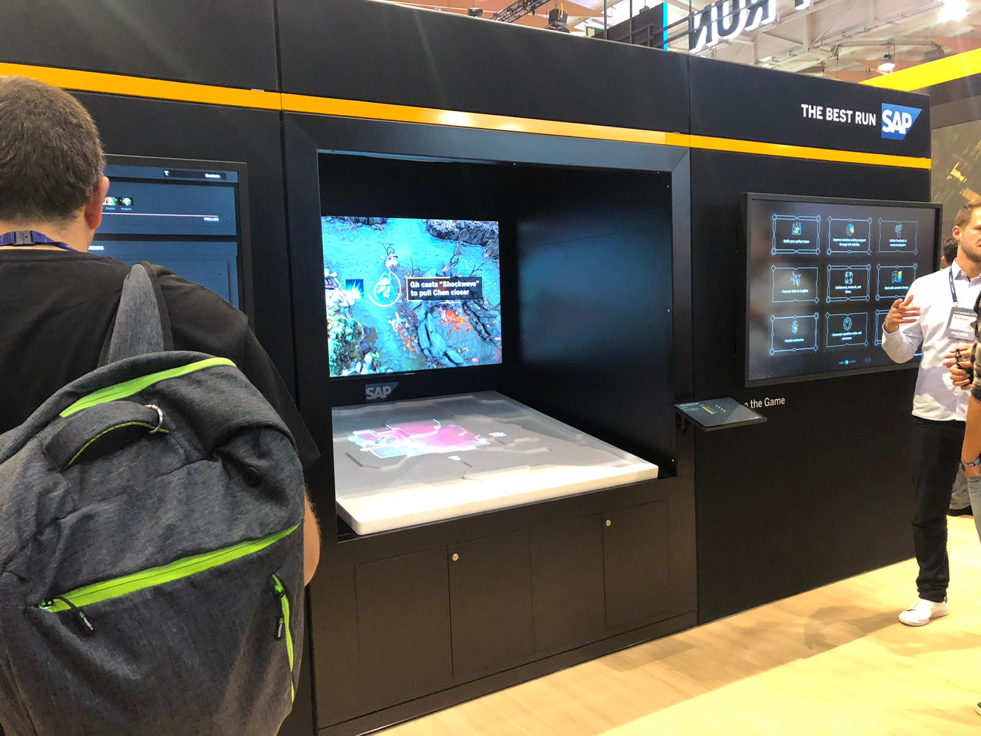 Ilustrating that AI powered analytics to improve eSports were on display, in particular, a SAP powered solution built to help Team Liquid from a very well known game outperform competitors.