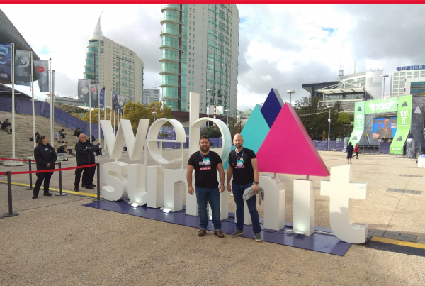 Image that ilustrates our AMS Team representing Crossjoin at WebSummit 2019