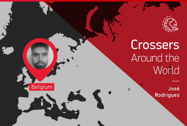 "The testimony of this ""Crossers around the world"" is given by José Rodrigues who is in Belgium"