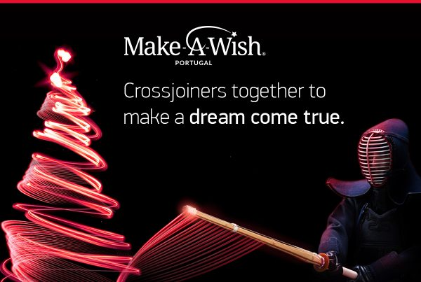 Crossjoin's institutional image promoting Make-a-Wish Christmas solidarity action